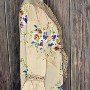 Bell sleeve kimono